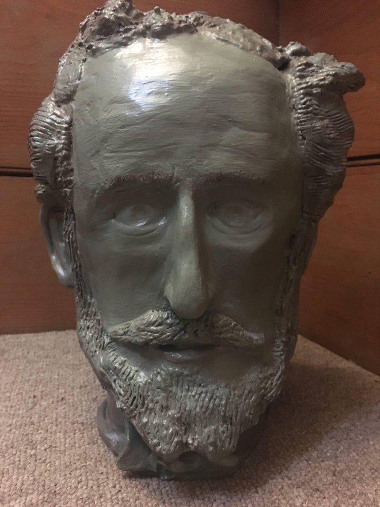 Gabriel Jenny Figurative Sculpture - Head Sculpture, Elderly Man with Beard