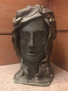 Head Sculpture, Double Sided, Male and Female