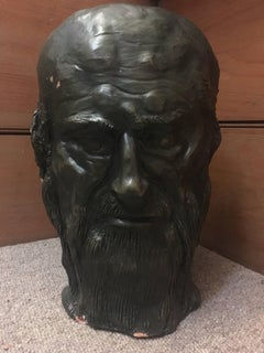 Head Sculpture, Double Sided, Long Beard