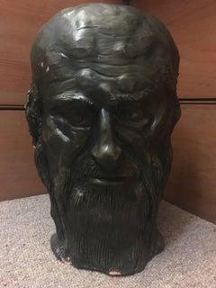 Head Sculpture, Double Sided, Long Beard