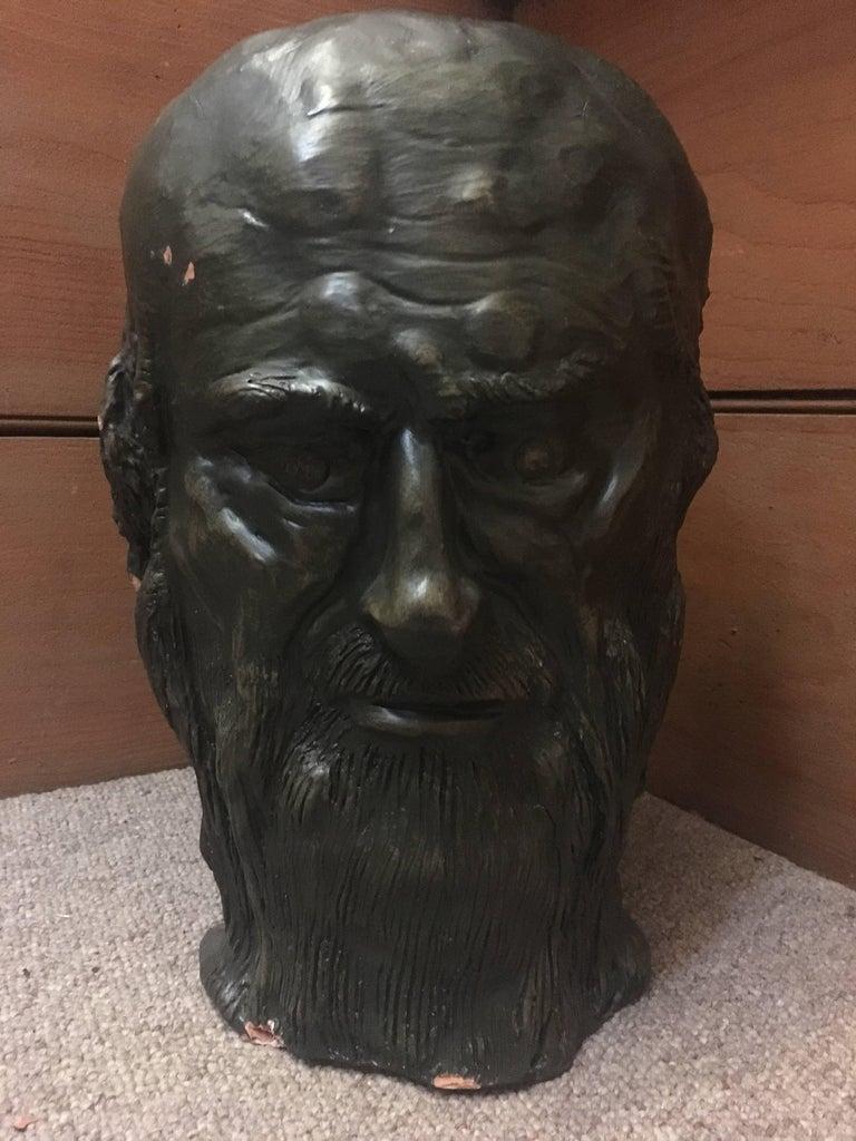 Gabriel Jenny Figurative Sculpture - Head Sculpture, Double Sided, Long Beard
