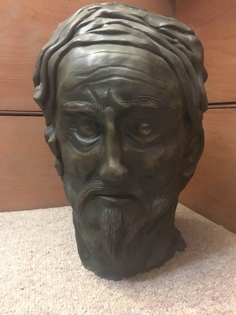 Head Sculpture, Double Sided, Long Beard For Sale 2