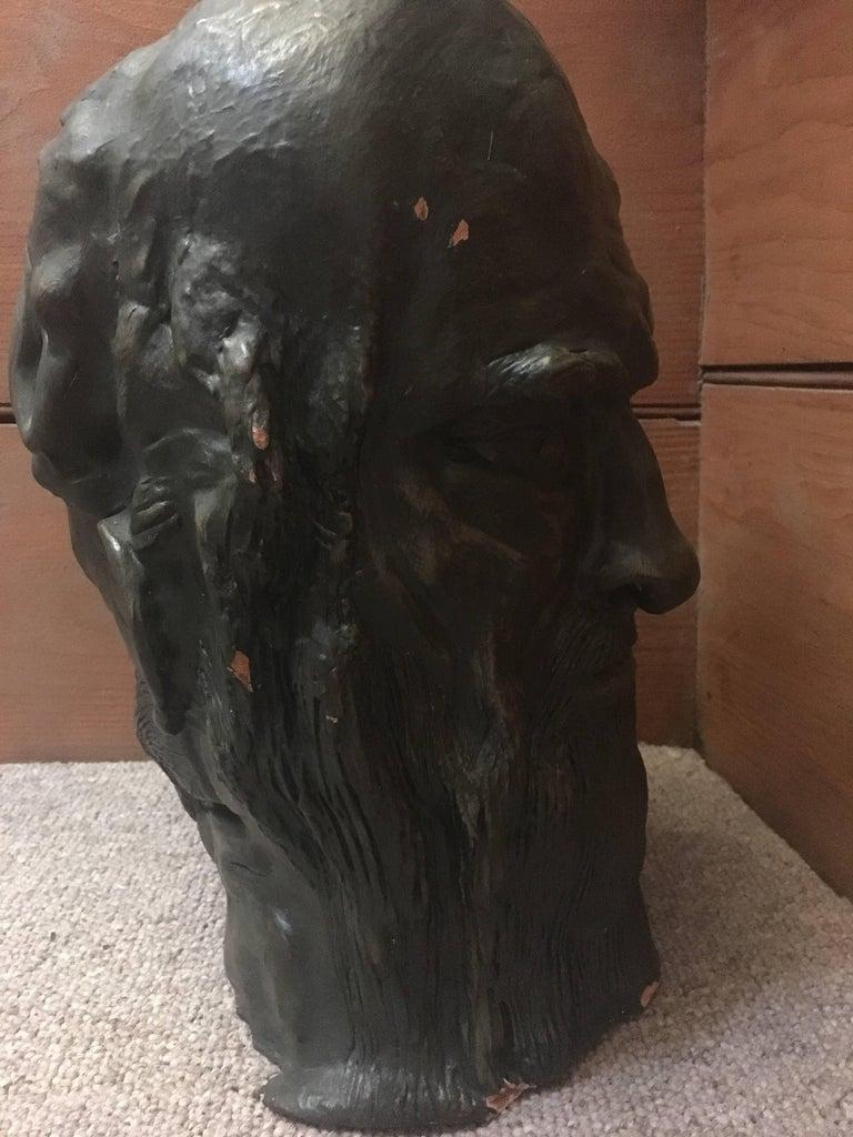Head Sculpture, Double Sided, Long Beard For Sale 4