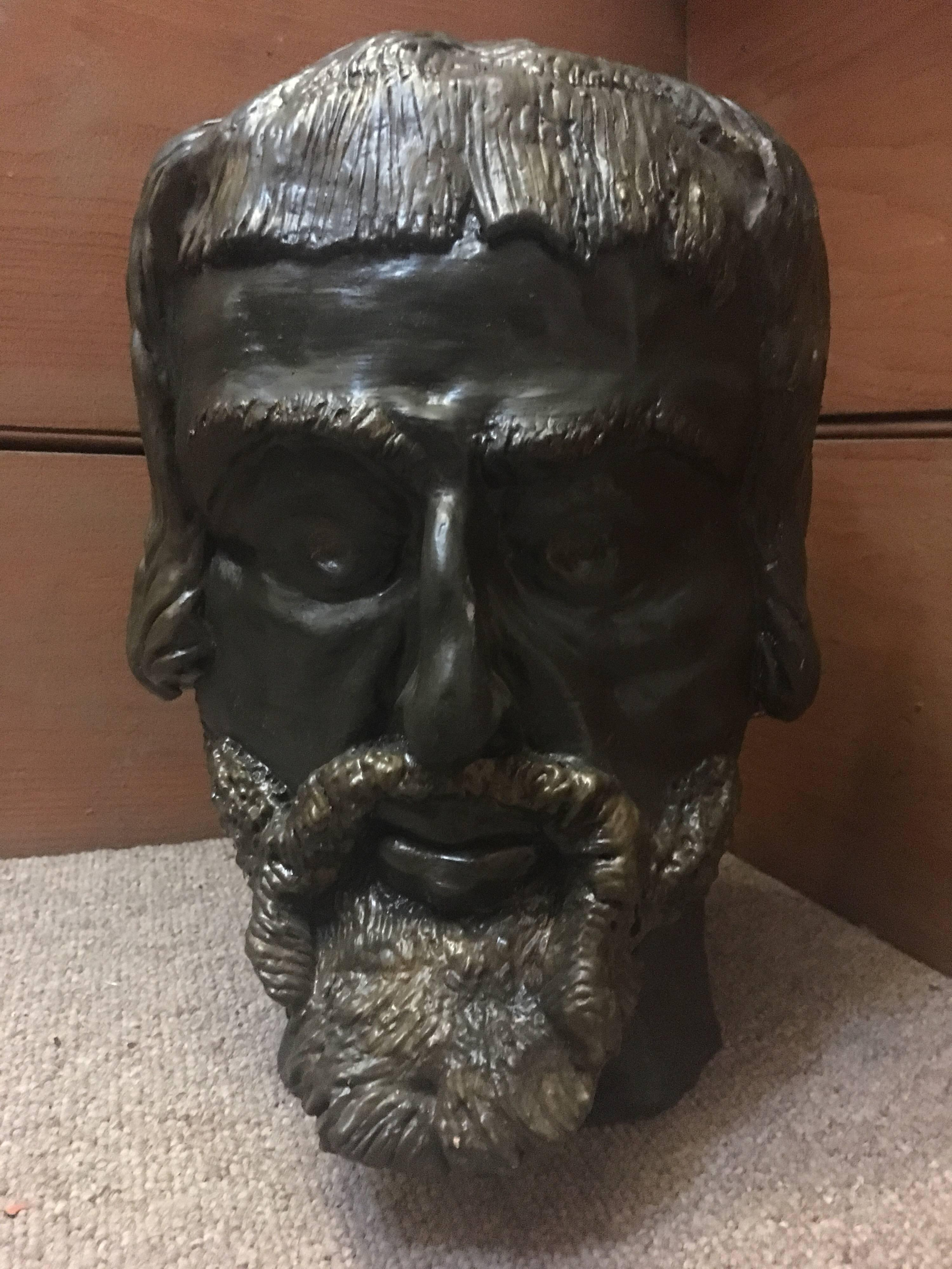 Head Sculpture, Double Sided, Both Male