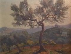 San Gimignano, Tuscany Landscape, Signed Oil Painting