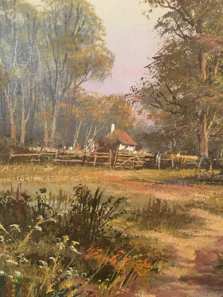 The Tranquil River, Large English Oil Painting, Signed  3
