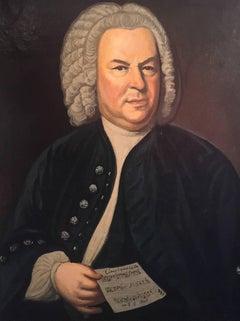 Johan Sebastian Bach, Large Portrait signed painting