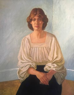 1970's Portrait of a Woman, Very Large Oil Painting