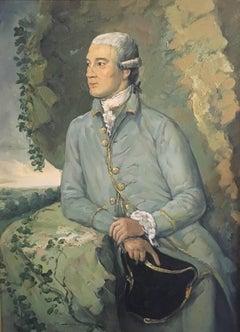 The Georgian Aristocrat, Portrait, Oil Painting