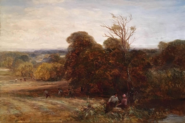 The Harvest, Victorian Oil Painting