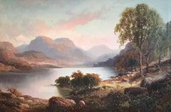 Scottish Highland Loch, Victorian Oil Painting