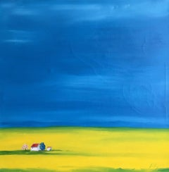 Blue Skies, Large Spanish Landscape Painting