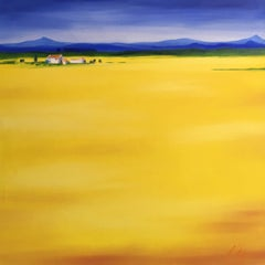 'Golden Field' Landscape, Oil Painting, Signed
