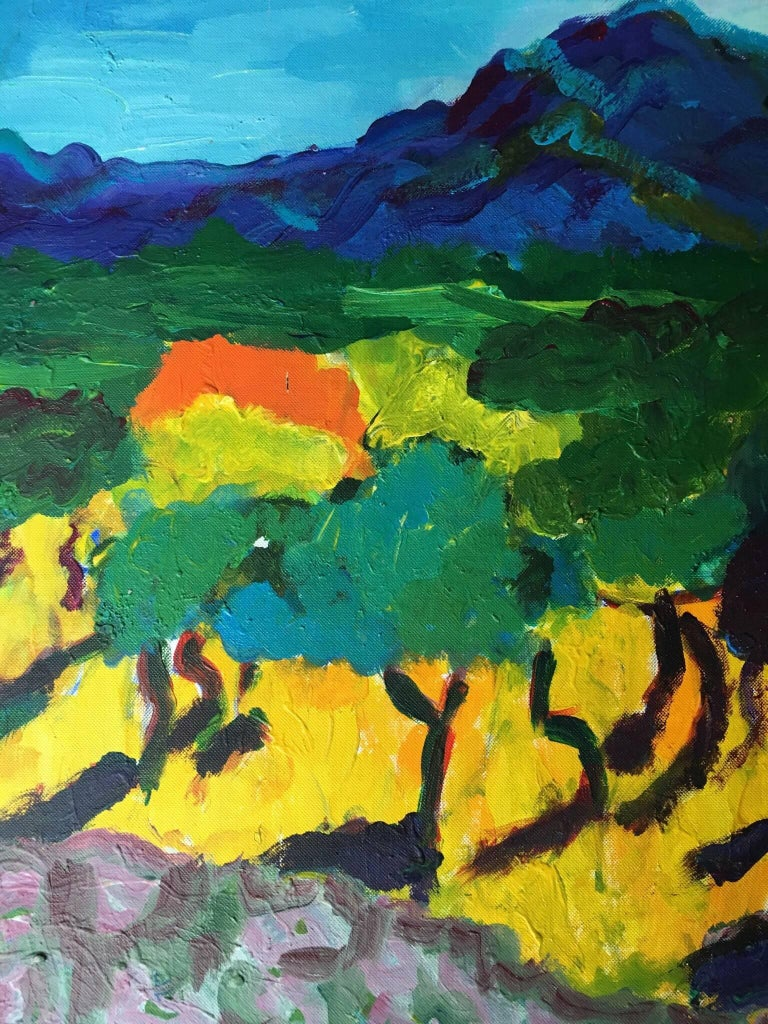 Pamela Cawley - Provence Impressionist Abstract Landscape, Bright ...