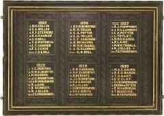1920's Cambridge University Rowing Club Board