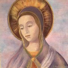 Virgin Mother, Portrait, Oil Painting