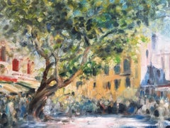 Impressionist Oil of a French Market Day