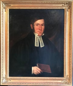 The Clergyman, 19th century English Oil Painting