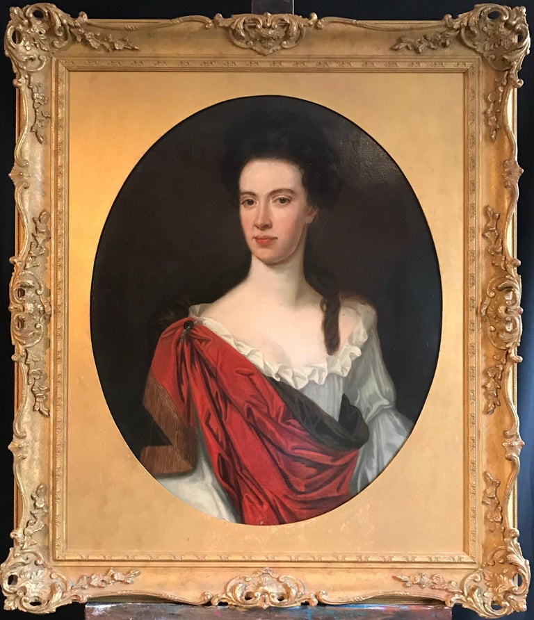 Portrait of a Lady, Fine Oval Oil on Canvas