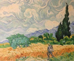A Walk Through Provence, Impressionist French Oil Painting