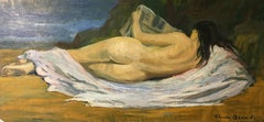 Large Impressionist Nude, French Oil Painting, Signed