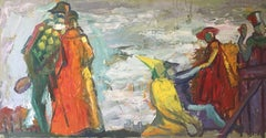 The Thespians, French Impressionist Oil Painting