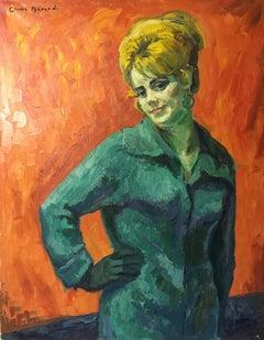 'Portrait de Christa', Very Large Impressionist Portrait, Oil Painting, Signed