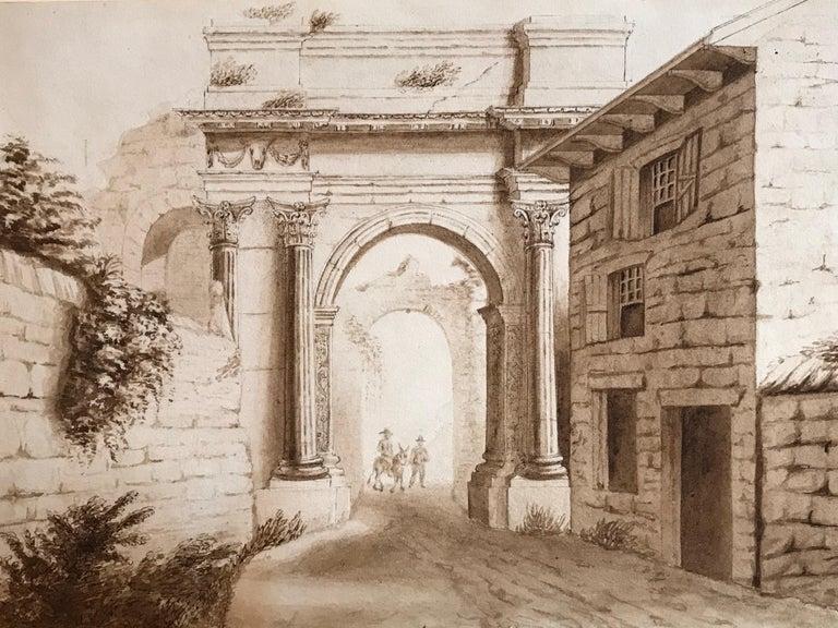 Classical Roman Ruins, c. 1840 drawing
