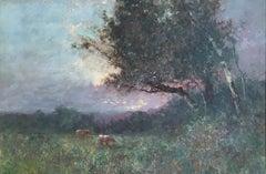 Antique Impressionist Landscape, Oil Painting, Signed