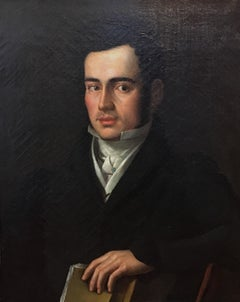 Fine French Empire Portrait of Philippe Bardon, Oil Painting
