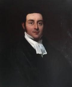 Fine Victorian Portrait of a Clergyman, Neutral Colour