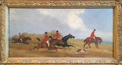 The Hunt (part 1), Victorian British Oil Painting, Signed