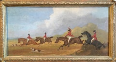 The Hunt (part 2), Victorian British Oil Painting, Signed