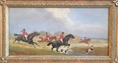 The Hunt (part 3), Victorian British Oil Painting, Signed