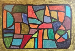 Mid-20th Century Cubism Abstract Oil Painting, Multi Coloured, British Artist