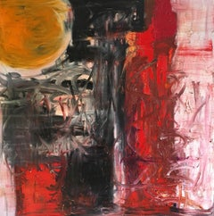 'Sun 1' Large British Abstract, Oil Painting