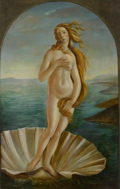 The Birth of Venus, Large Oil Painting on Canvas by Louvre Copyist