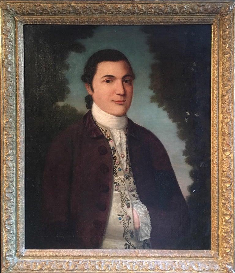 The 18th Century European Aristocrat, Large Oil on Canvas Painting