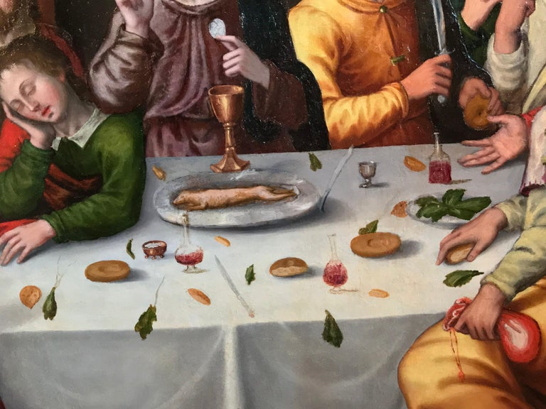 The Last Supper, circa 1500, Important Early Old Master Oil Painting For Sale 4