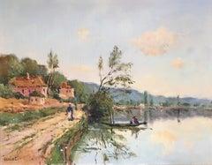 'Paysage de L'eure' Impressionist Landscape, Signed Oil Painting