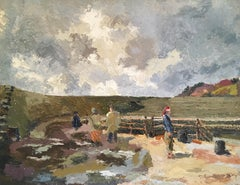 """""""The Little Pirate"""", The Cobb - Lyme Regis, Mid-20thC Impressionist Oil Painting"""