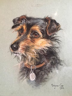 Portrait of a Terrier - Superb 1960's English Dog Pastel