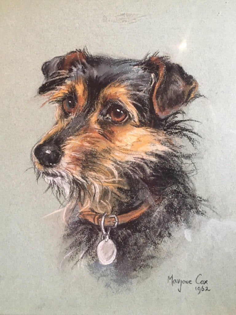 Portrait of a Terrier - Superb 1960's English Dog Pastel