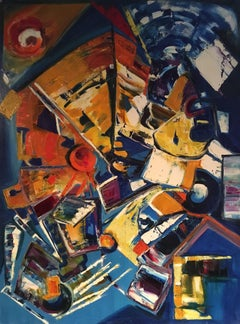 Huge Original Abstract Oil Painting, Multi-Coloured