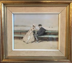 "The Marriage Proposal, Impressionist Original ""The Important Question"", Signed"