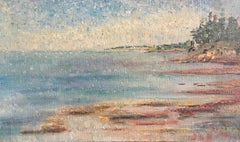 Dappled Coastal Sunset, Impressionist Landscape, Pastel Colours, Oil Painting