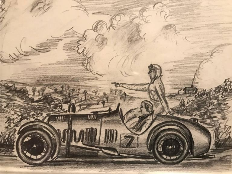 Unknown - Set of Four 1930\'s Motor Car Racing Original Drawings ...