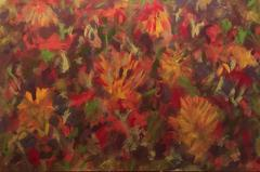 Very Large British Abstract Painting - Amazing Warm Colours