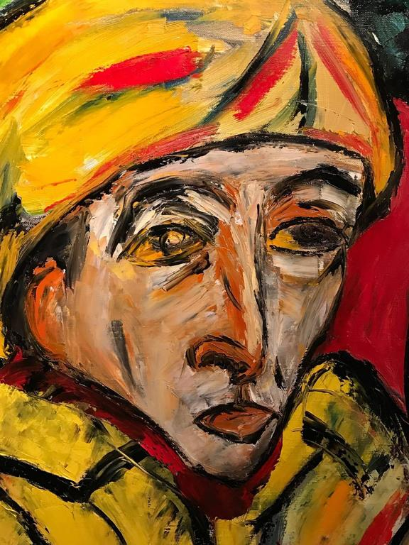 Striking French Expressionist Oil Painting - Head Portrait 1