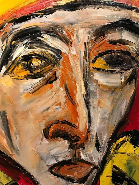 Striking French Expressionist Oil Painting - Head Portrait 2